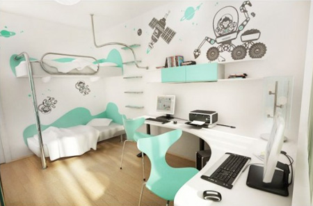 Turquoise-Aqua-teen-bedroom-interior-design---decor-----bedroom-design---interiors