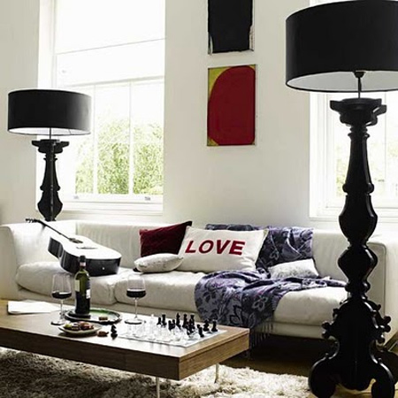 black white living room decor interiors 9 styled haven design blog. Black Bedroom Furniture Sets. Home Design Ideas