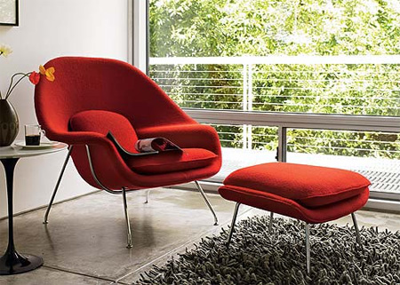 red-interior-design-Knoll-Womb-Chair-and-Ottoman-decor-6